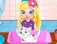 Baby Sofia's White Kitty