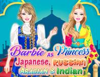 Barbie As Princess: Japanese, Russian, Arabian and Indian