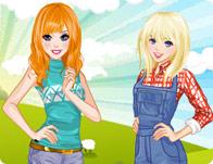 Bella And Sarah In Farm