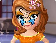Sofia the First Face Tattoo